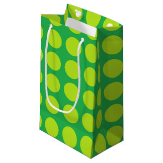 Lime Green Polka Dots Green Small Gift Bag