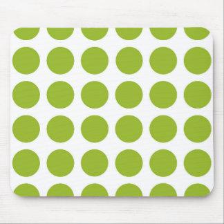 Lime Green Polka Dots Mousepad
