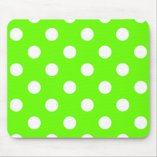 Lime green polka dots nail design for the spring mousepads