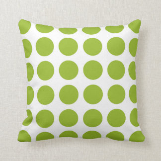 Lime Green Polka Dots Pillow