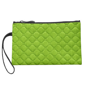 Lime Green Quilted Look Wristlets