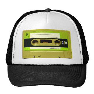 Lime Green Retro Cassette Tape Cap
