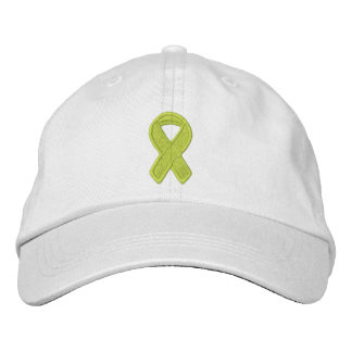 Lime Green Ribbon Awareness Embroidered Cap