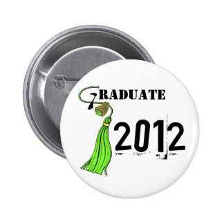 Lime Green Ring And Tassel Graduate 6 Cm Round Badge