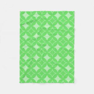 Lime green shippo pattern fleece blanket