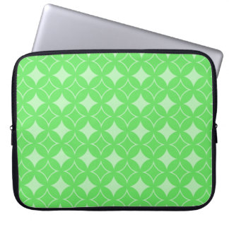 Lime green shippo pattern laptop computer sleeves