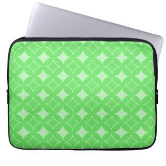 Lime green shippo pattern laptop sleeve