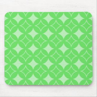 Lime green shippo pattern mouse pad