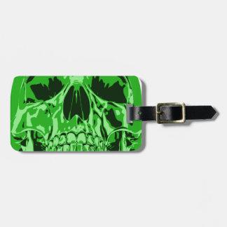 Lime Green - Skull Travel Bag Tag