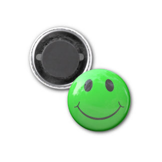 Lime Green Smiley Face Locker Magnets