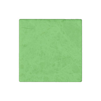 Lime Green Solid Color Stone Magnet