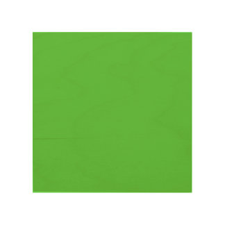 Lime Green Solid Color Wood Print