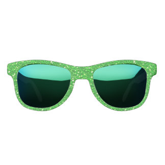 Lime Green Sparkly Faux Glitter look Sunglasses