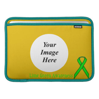 Lime Green Standard Ribbon by Kenneth Yoncich Sleeve For MacBook Air