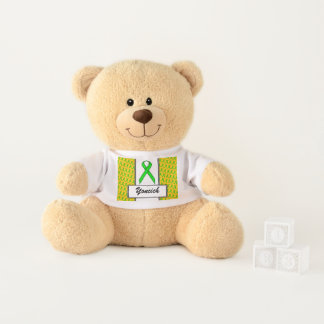Lime Green Standard Ribbon by Kenneth Yoncich Teddy Bear