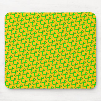 Lime Green Standard Ribbon Mouse Pad