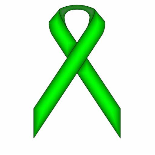 Lime Green Standard Ribbon Photo Cut Outs