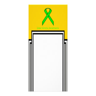 Lime Green Standard Ribbon Personalized Rack Card