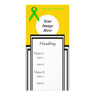 Lime Green Standard Ribbon Tmpl by Kenneth Yoncich Custom Photo Card