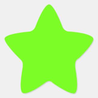 Lime Green Star Sticker