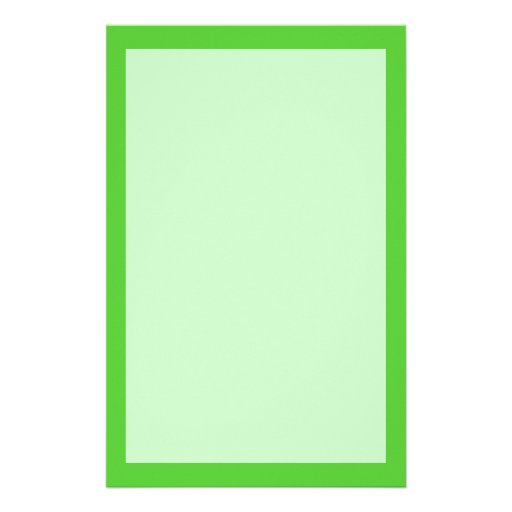 Lime Green Customized Stationery