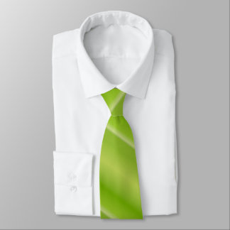 Lime Green Striped Neck Tie