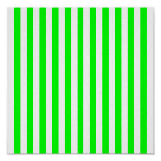 Lime Green Striped Pattern Poster