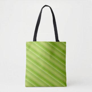 Lime Green Stripes Tote Tote Bag