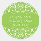 Lime Green Swirl Flower Bridal Shower Sticker