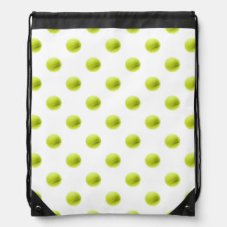 Lime Green Tennis Balls Background Ball Drawstring Backpacks
