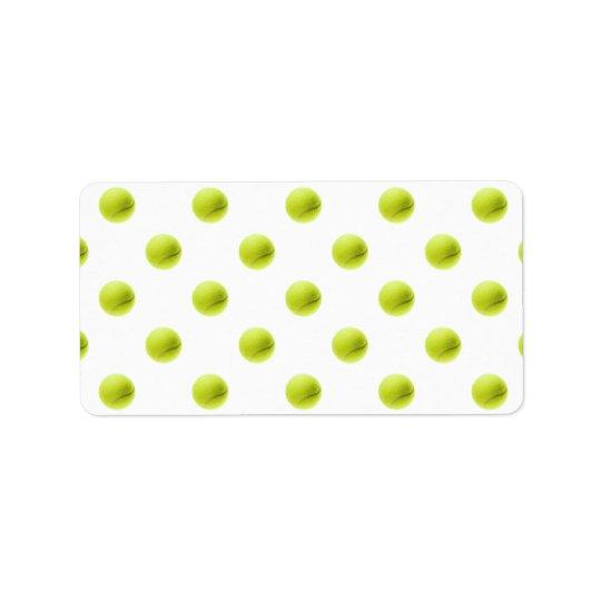 Lime Green Tennis Balls Background Ball Label