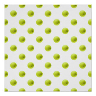 Lime Green Tennis Balls Background Ball Poster