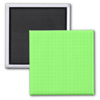 Lime Green Texture Square Magnet
