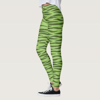 Lime Green Tiger design pattern leggings