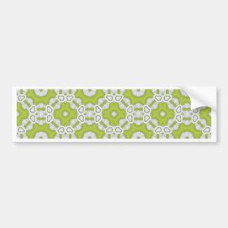 lime green tile bumper sticker