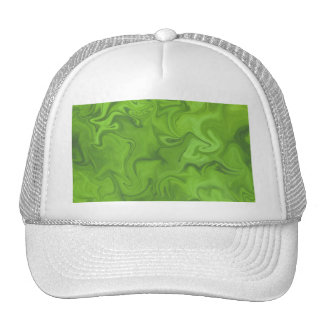 Lime Green Tonal Abstract Swirled Background Trucker Hat