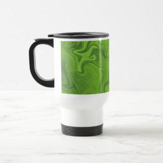 Lime Green Tonal Abstract Swirled Background Coffee Mugs