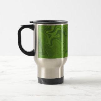 Lime Green Tonal Abstract Swirled Background Coffee Mug