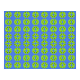 Lime Green & Turquoise Poster