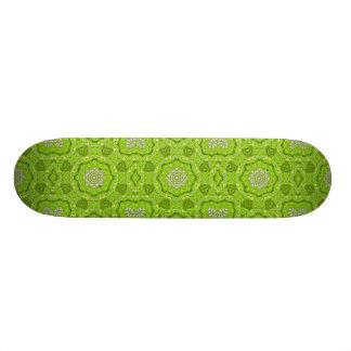 Lime Green Watercolor Mandala Skate Deck