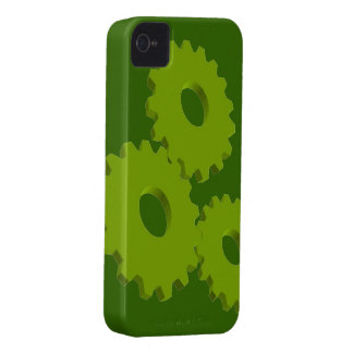 Lime Green Wheel Clock Cogs theme iPhone 4 Covers