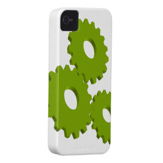 Lime Green Wheel Clock Cogs theme iPhone 4 Case-Mate Cases