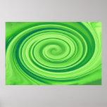 Lime Green Whirlpool Print