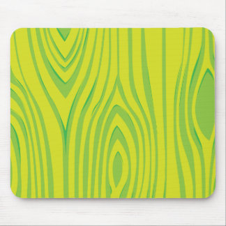 LIme Green Wood Grain Pattern Mouse Pad