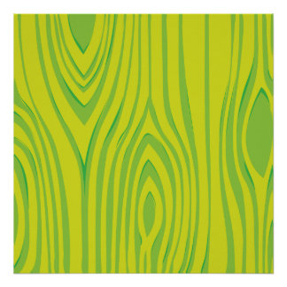 LIme Green Wood Grain Pattern Poster