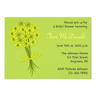 Lime Green Yellow Bouquet Invitation