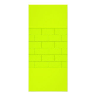 LIME GREEN YELLOW BRICKS TILES PATTERN BACKGROUNDS 10 CM X 23 CM RACK CARD
