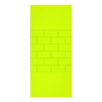 LIME GREEN YELLOW BRICKS TILES PATTERN BACKGROUNDS 10 CM X 23 CM RACK CARD