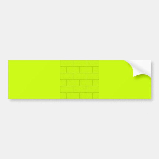 LIME GREEN YELLOW BRICKS TILES PATTERN BACKGROUNDS BUMPER STICKERS