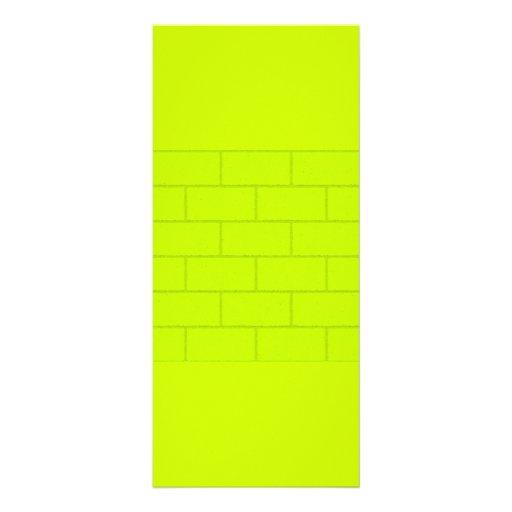 LIME GREEN YELLOW BRICKS TILES PATTERN BACKGROUNDS RACK CARD DESIGN